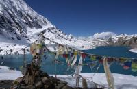 Everest Land trek taken this picture from Tilicho lake and mesokanta pass is so beautiful trek see more at www.everestlandtrek.com
