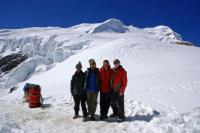 At Mera High Camp With Mera Peak Central And North Summits