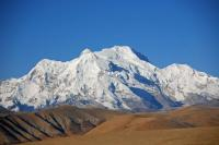 The mountain panorama from the Tong La (5143m) between Nyalam and Tingri includes Pungpa Ri (7445m), Phola Gangchen (7661m) and Shishapangma (8012m).