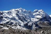 Mera Peak Central Summit, Mera Peak North Summit, Mera Peak West Summit From Between Khare And Mera La